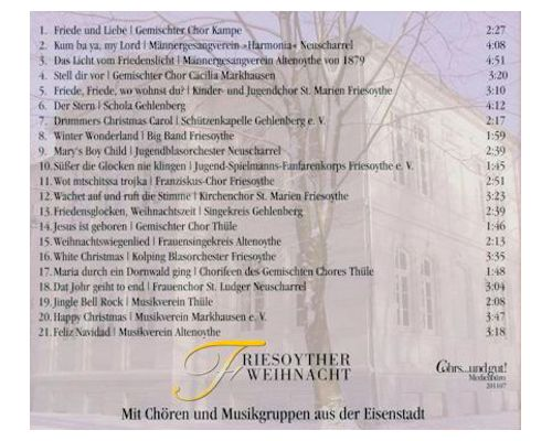 CD Frohe Weihnacht