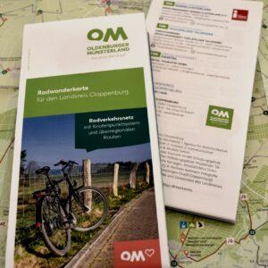 Radwanderkarte für den Landkreis Cloppenburg