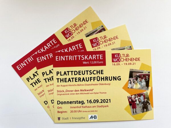 """Ticket """"Ünner den Melkwold"""""""