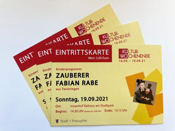 Ticket Zauberer Fabian Rabe