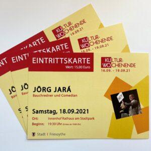 Ticket Bauchredner und Comedian Jörg Jará